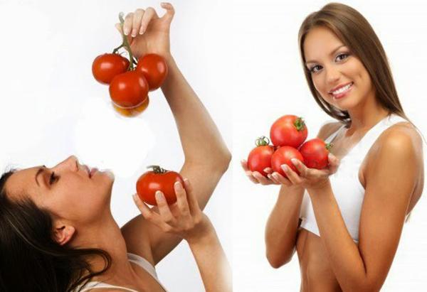 Cà chua đẹp dáng dưỡng da