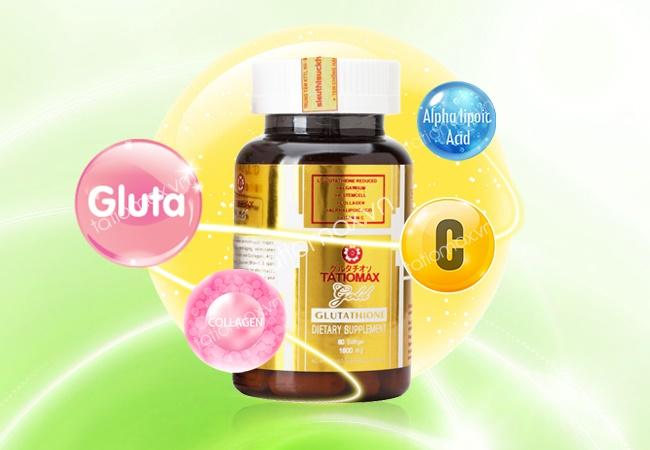 Tatiomax Gold bổ sung 1800mg Glutathione